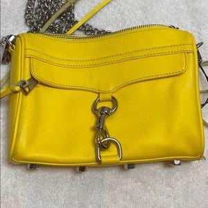 Rebecca Minkoff yellow crossbody bag purse